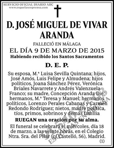 José Miguel de Vivar Aranda